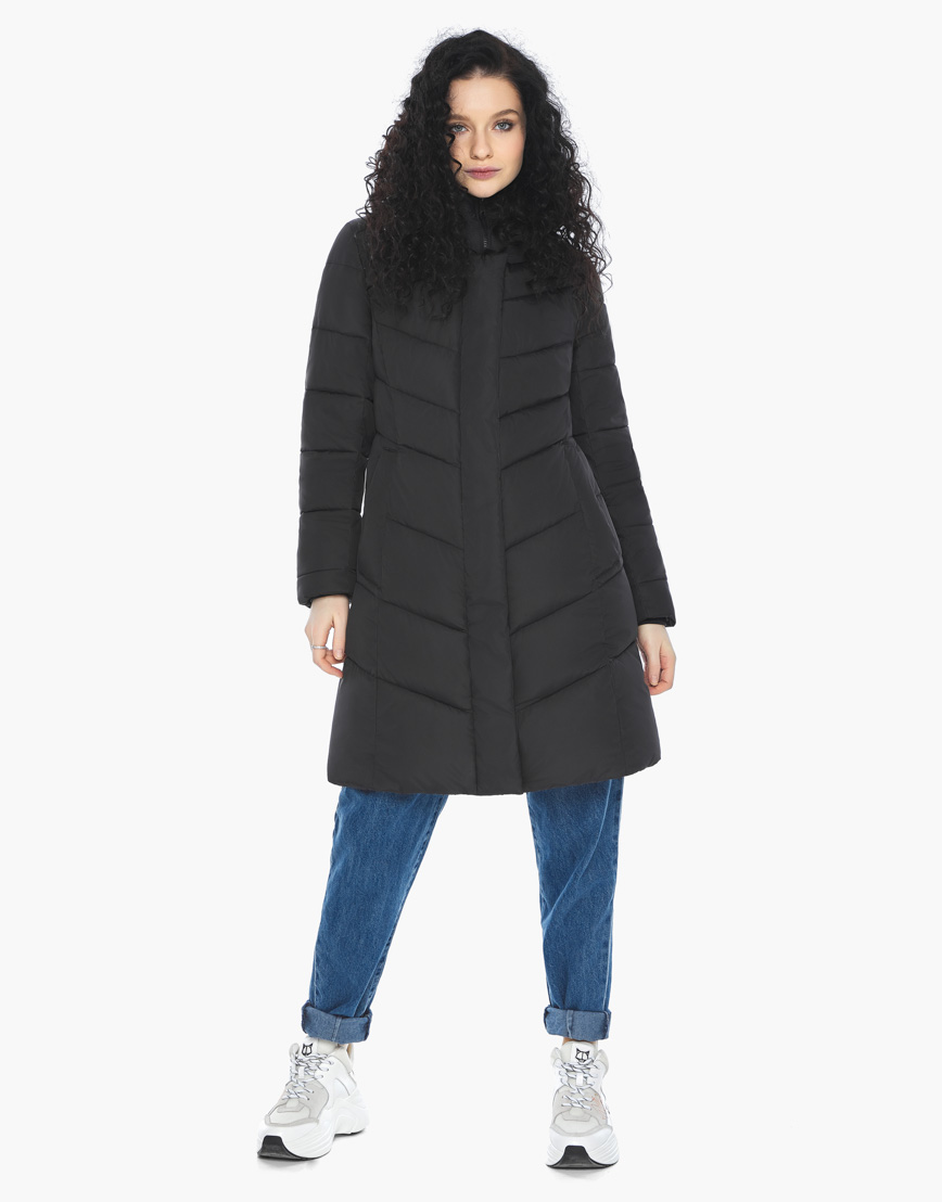 Куртка пуховик Youth черный молодежный женский комфортный модель 21025 фото 3