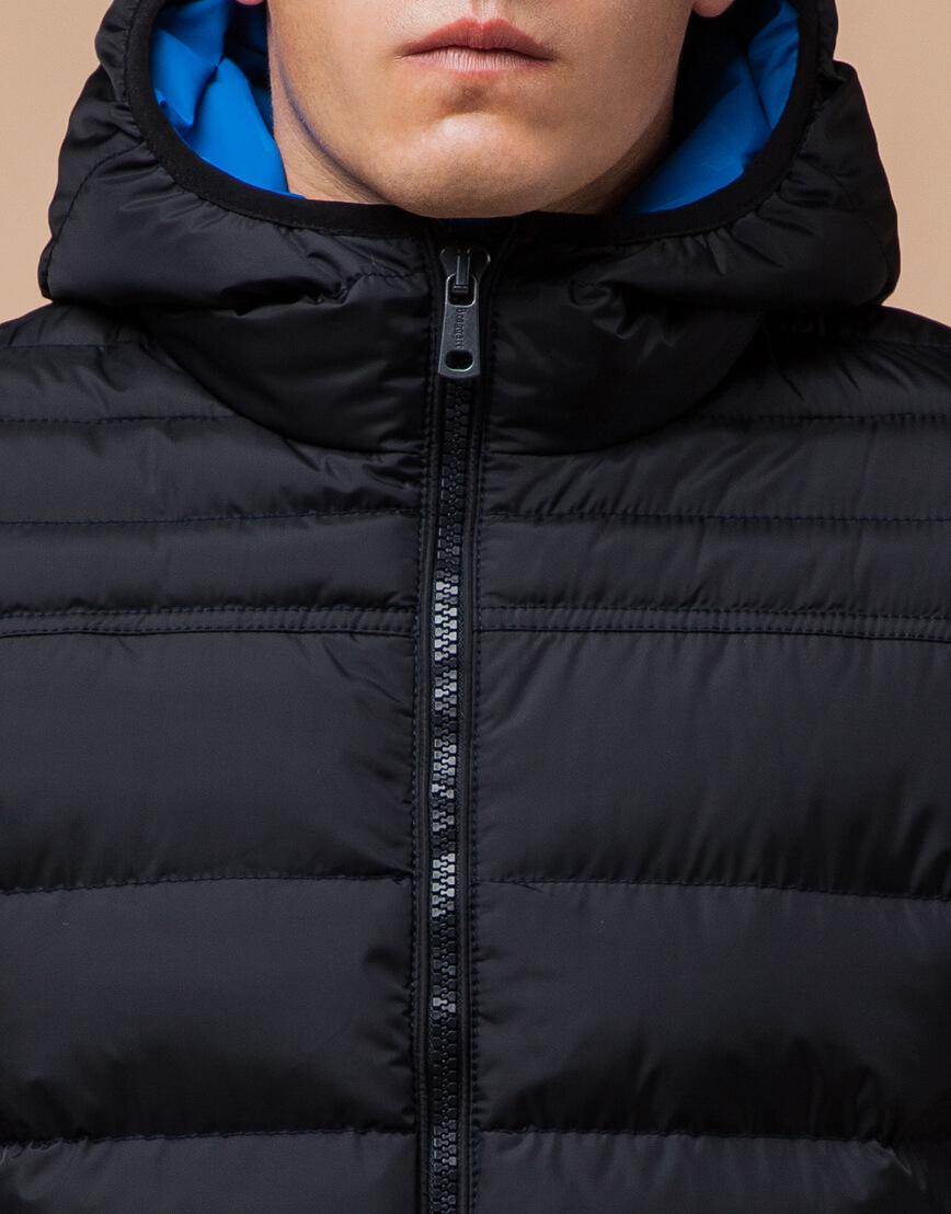 Куртка сине-черная с удобным капюшоном модель 25490 фото 4
