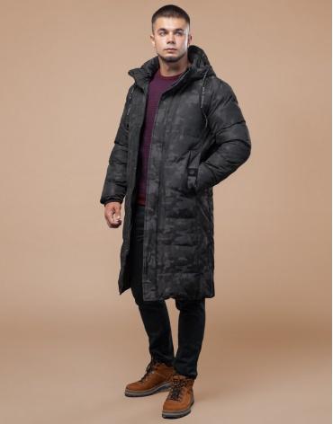 Комфортная зимняя куртка черная дизайнерская модель 25100 фото 1