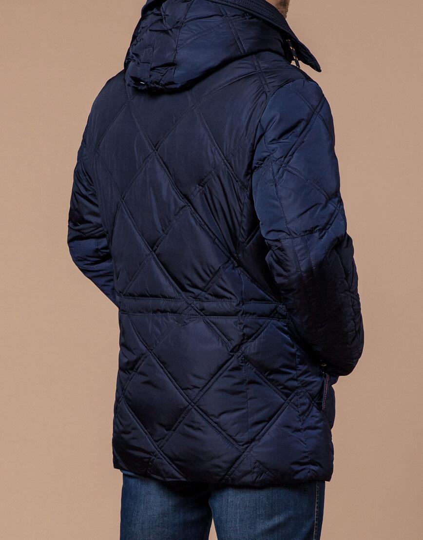 Современная куртка темно-синего цвета модель 12481 фото 3