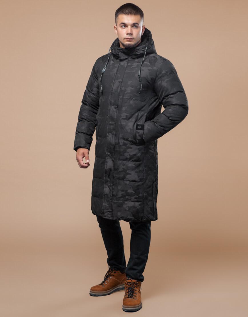 Комфортная зимняя куртка черная дизайнерская модель 25100 фото 2