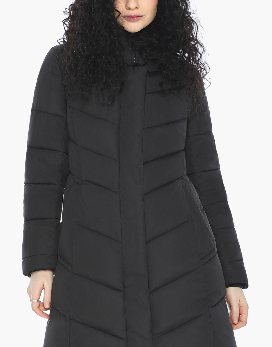Куртка пуховик Youth черный молодежный женский комфортный модель 21025 фото 7