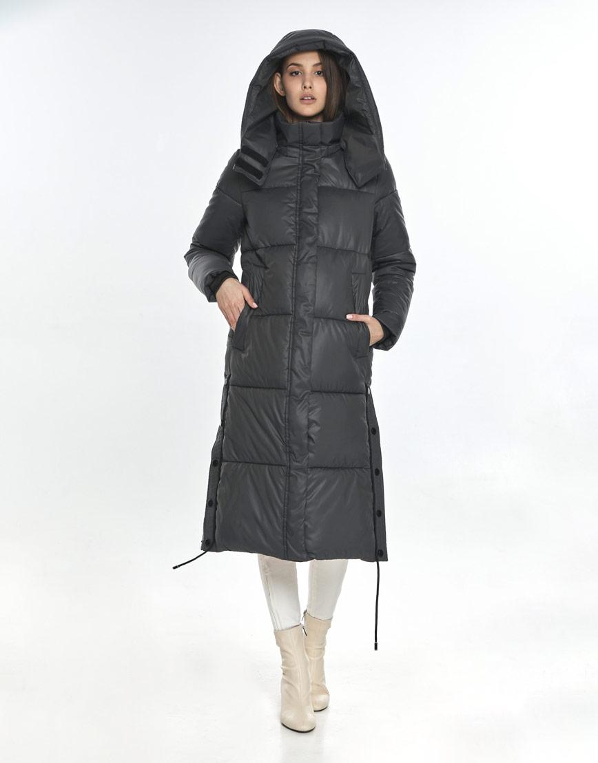 Зимняя серая куртка Vivacana комфортная женская 7654/21 фото 2