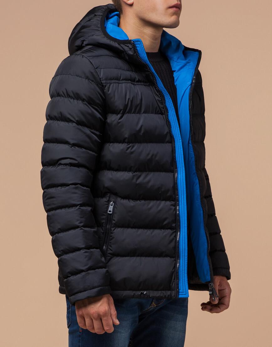 Куртка сине-черная с удобным капюшоном модель 25490 фото 1