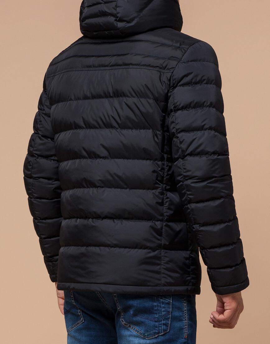 Куртка сине-черная с удобным капюшоном модель 25490 фото 3