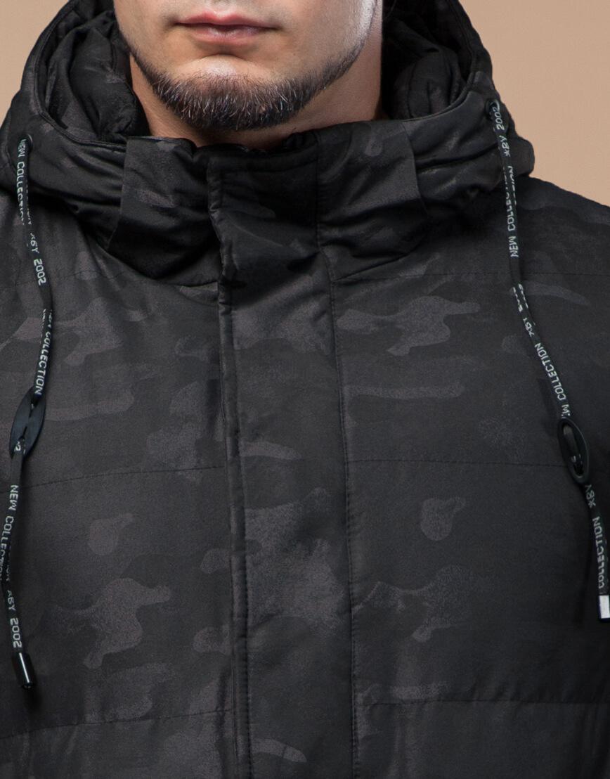 Комфортная зимняя куртка черная дизайнерская модель 25100 фото 5