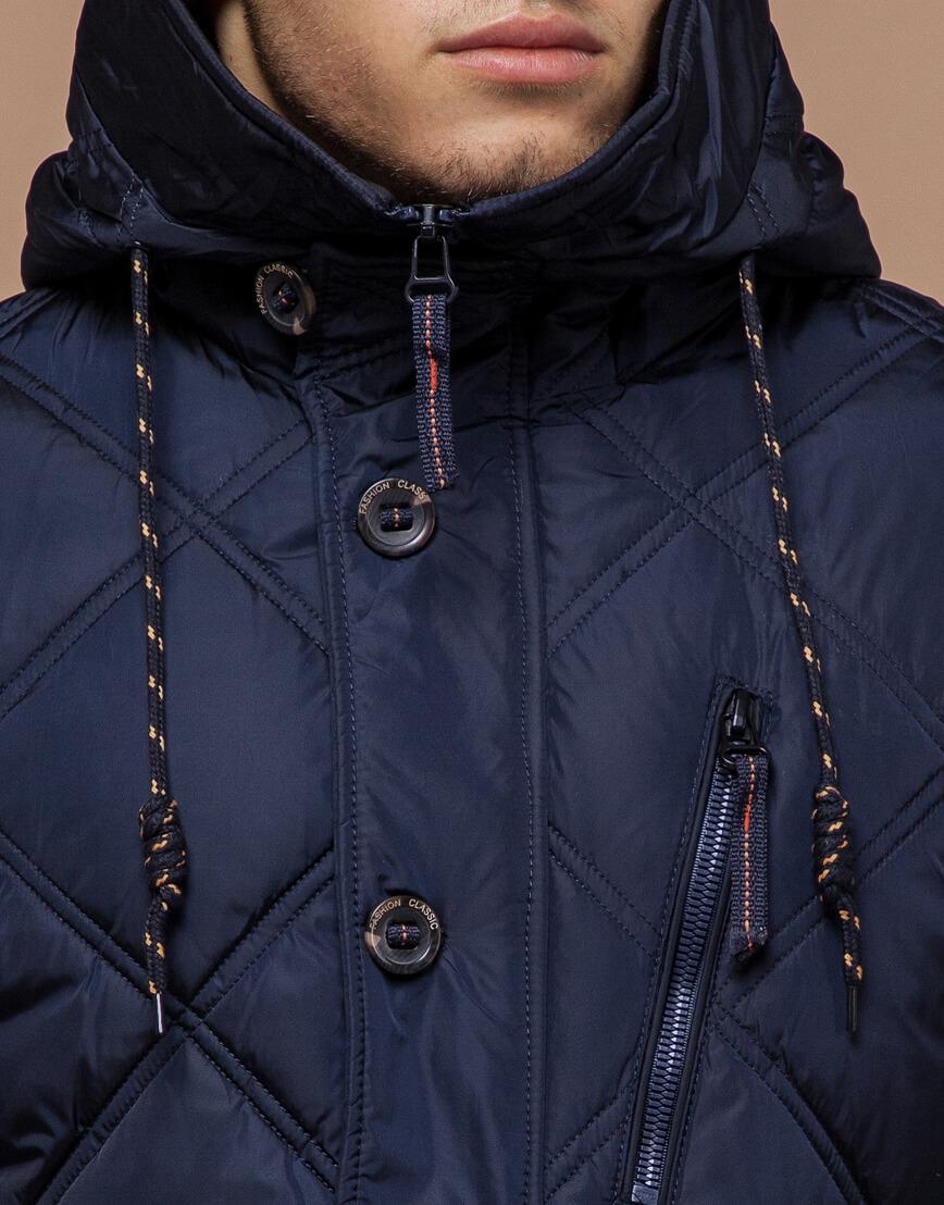 Современная куртка темно-синего цвета модель 12481 фото 4