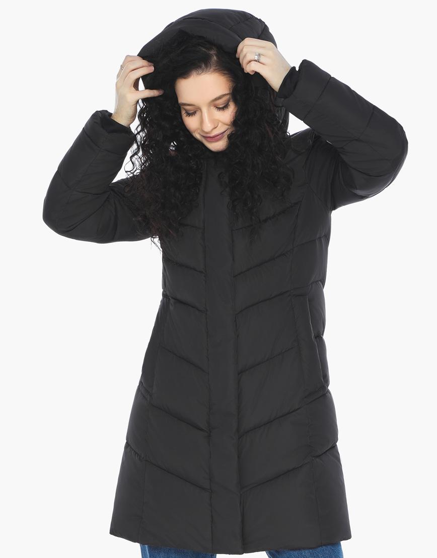Куртка пуховик Youth черный молодежный женский комфортный модель 21025 фото 2