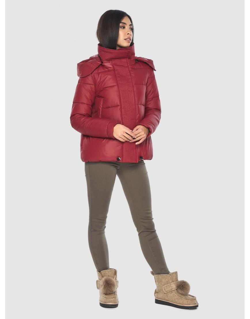 Куртка объёмного кроя женская Moc красная M6981 фото 5