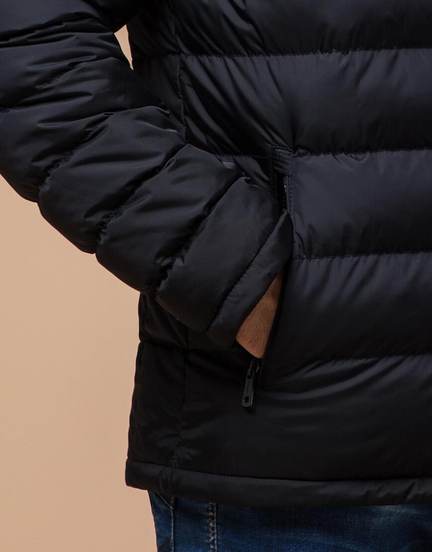 Куртка сине-черная с удобным капюшоном модель 25490 фото 5