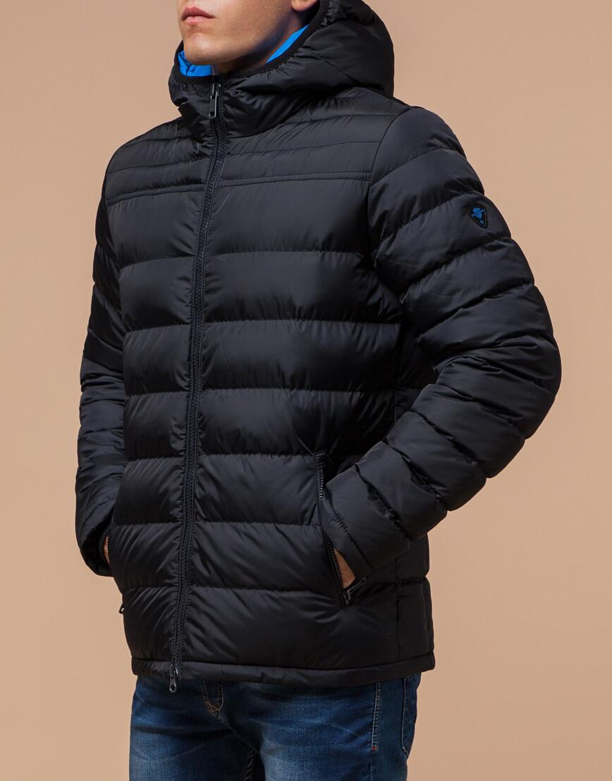 Куртка сине-черная с удобным капюшоном модель 25490 фото 2