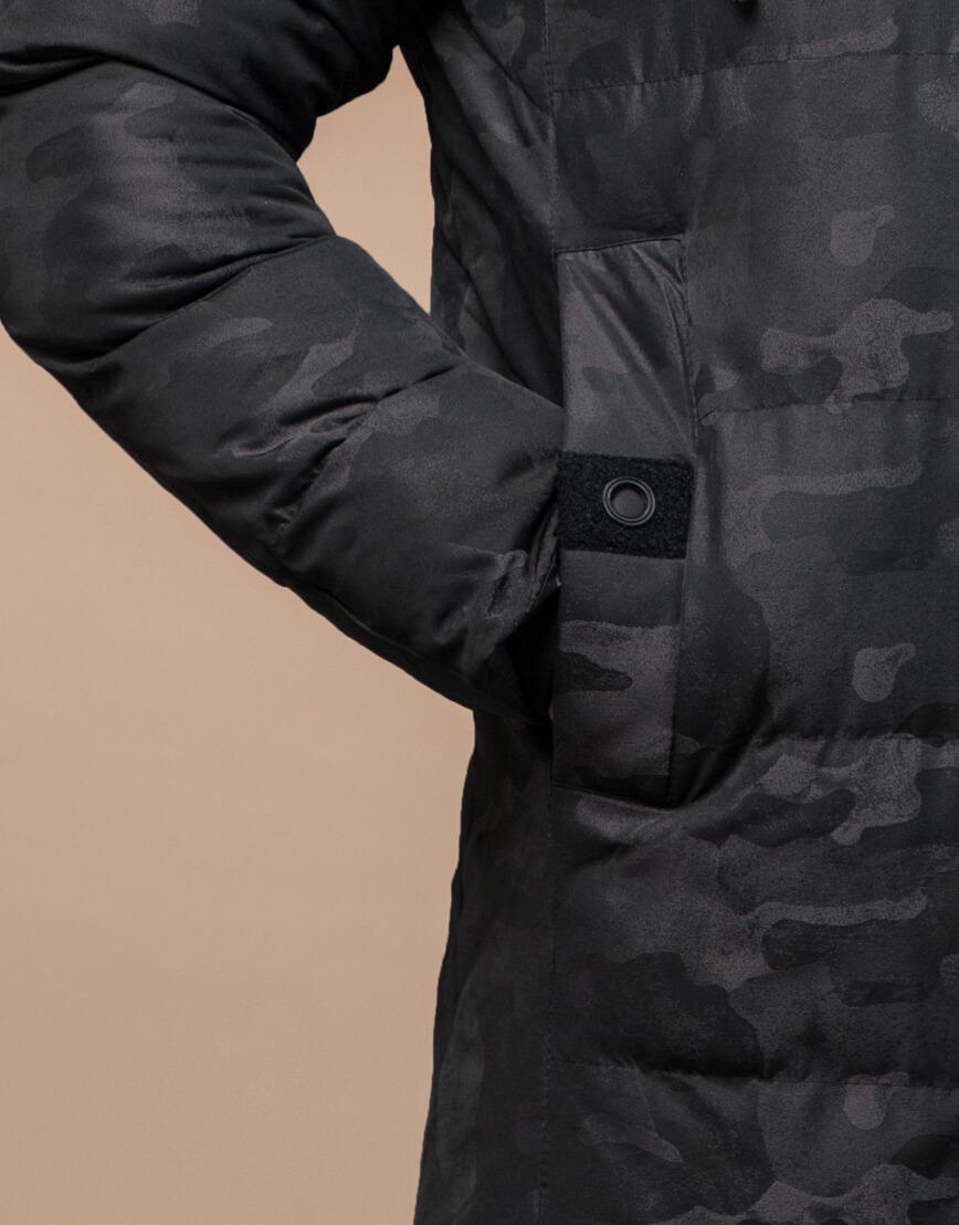 Комфортная зимняя куртка черная дизайнерская модель 25100 фото 6