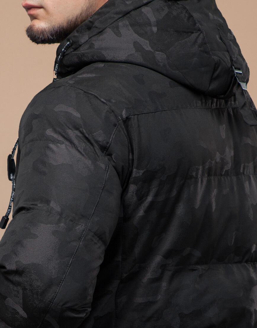 Комфортная зимняя куртка черная дизайнерская модель 25100 фото 7