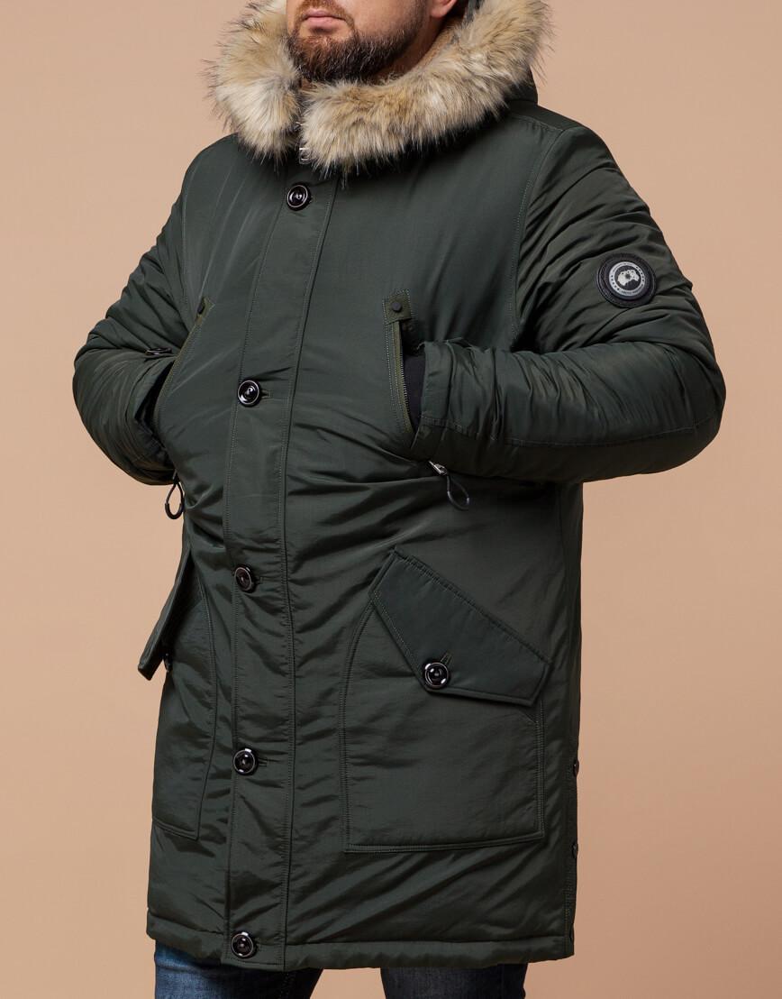Парка для мужчин зимняя цвета хаки модель 91660 оптом фото 1