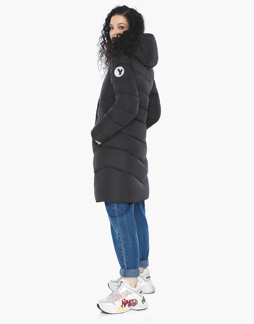 Куртка пуховик Youth черный молодежный женский комфортный модель 21025 фото 5