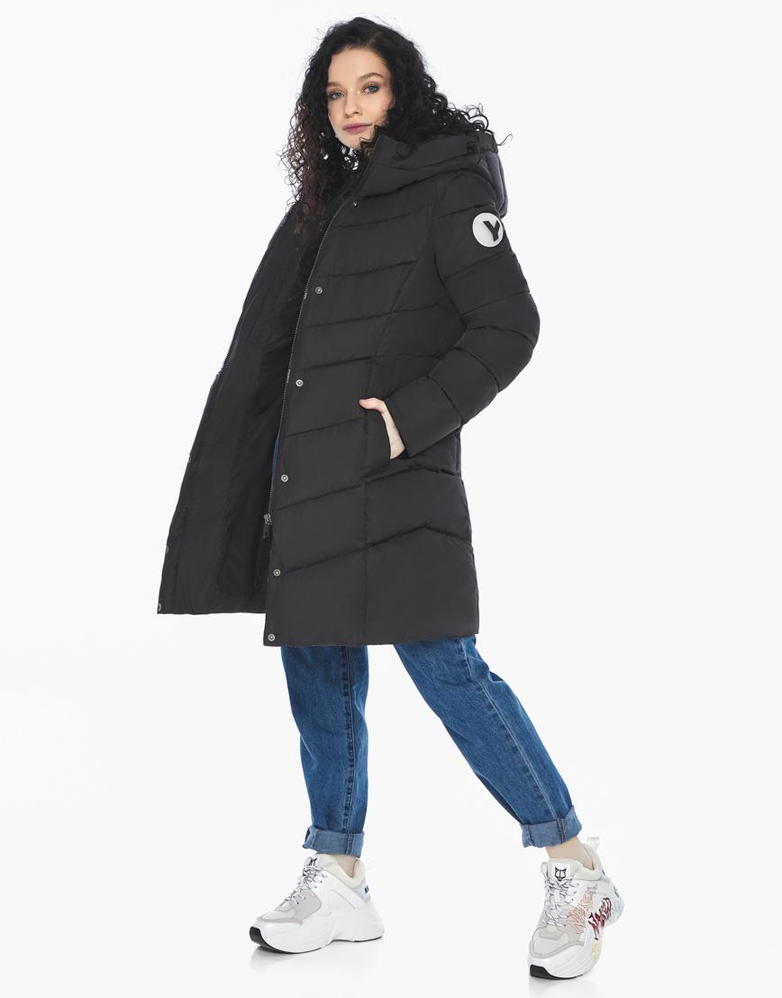 Куртка пуховик Youth черный молодежный женский комфортный модель 21025 фото 1