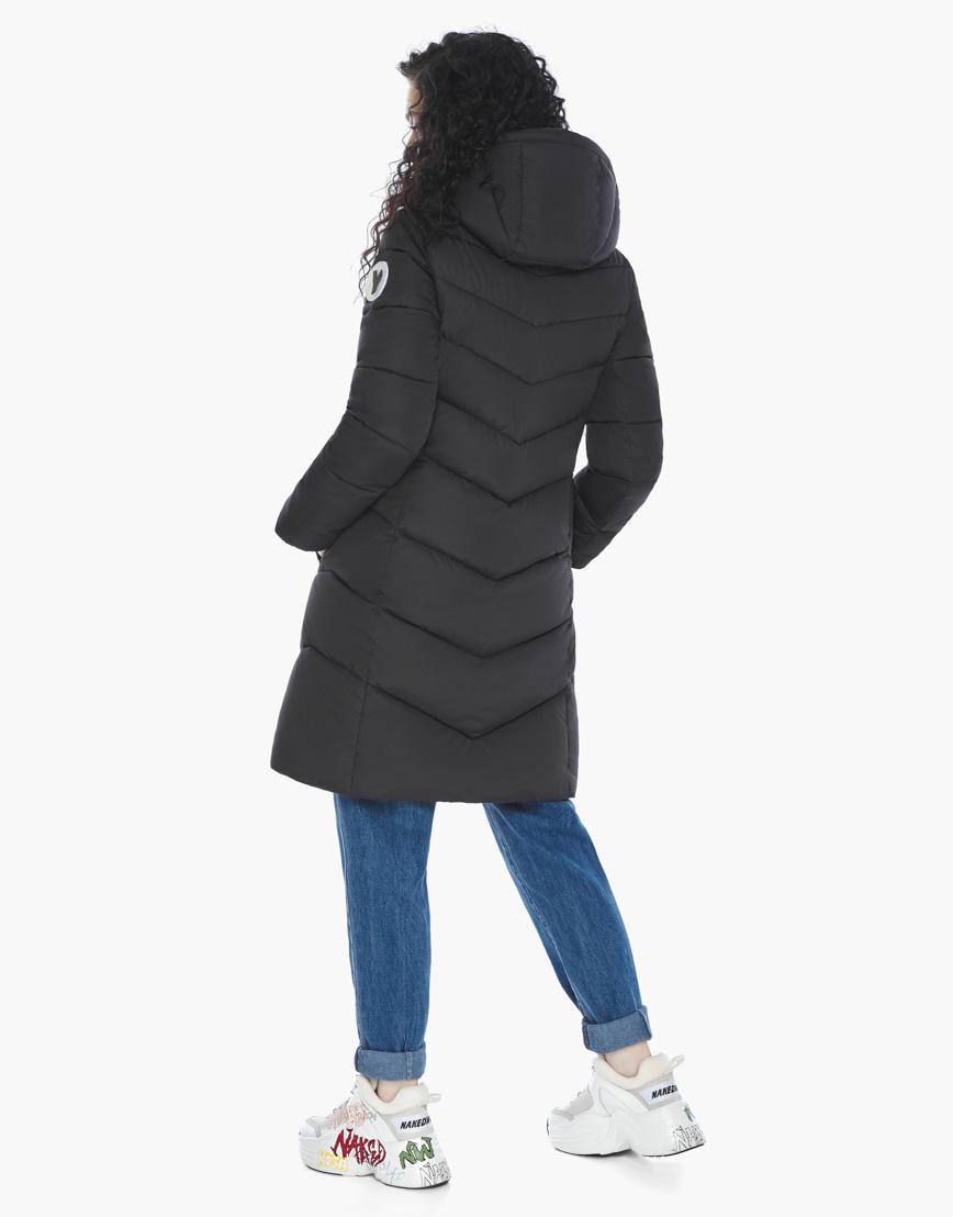 Куртка пуховик Youth черный молодежный женский комфортный модель 21025 фото 6