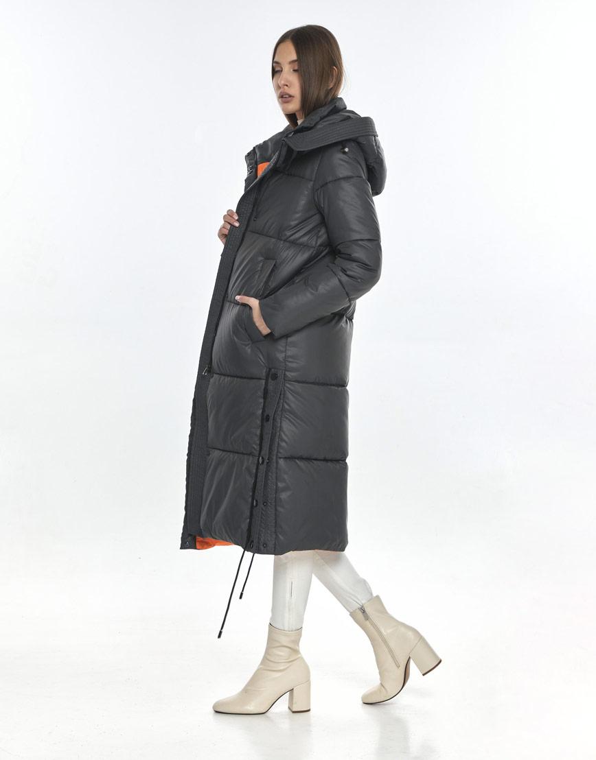 Зимняя серая куртка Vivacana комфортная женская 7654/21 фото 3