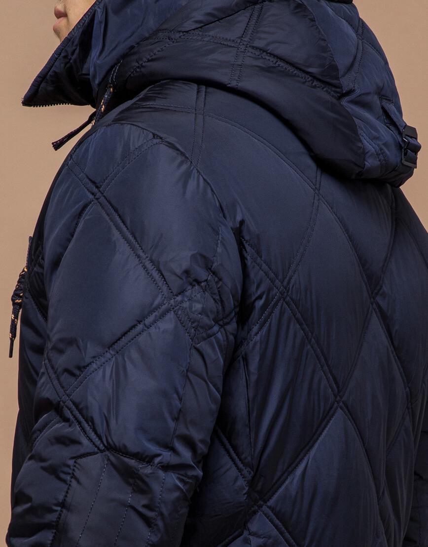 Современная куртка темно-синего цвета модель 12481 фото 6