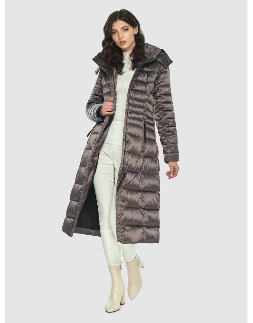 Длинная капучиновая куртка женская Vivacana 8140/21 фото 6