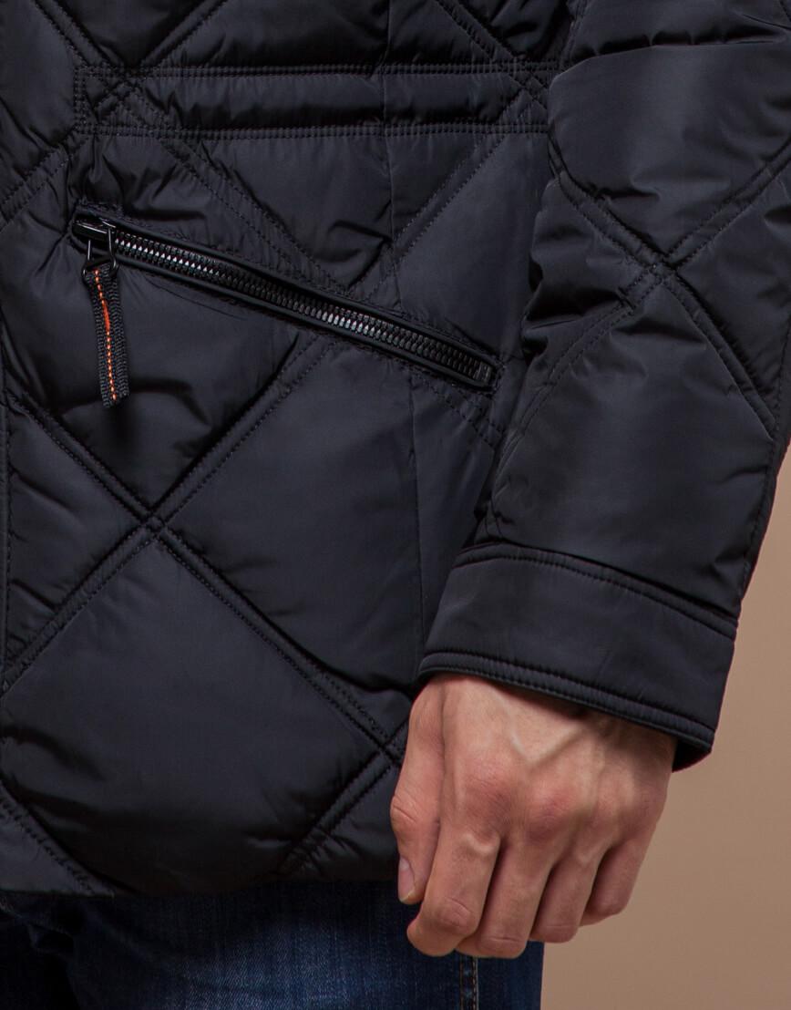 Мужская куртка черного цвета модель 12481 фото 5