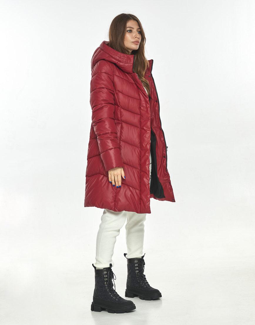 Куртка комфортная красная женская большого размера Ajento 22857 фото 1