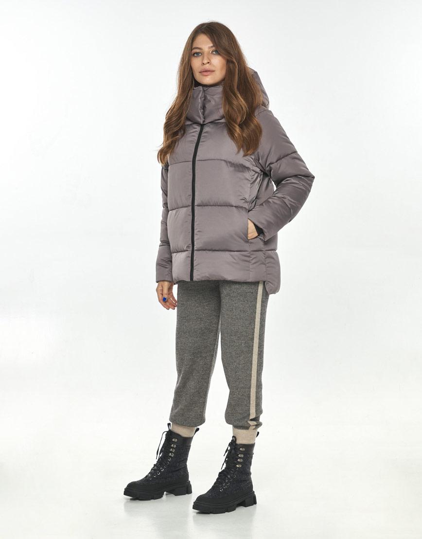Практичная женская куртка Ajento цвет пудра 22430 фото 1