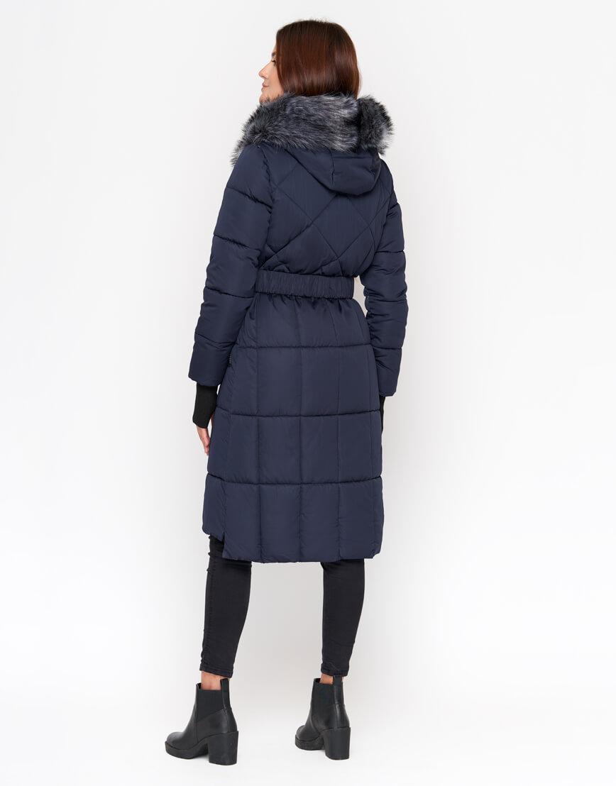 Куртка женская синяя с капюшоном модель 18013