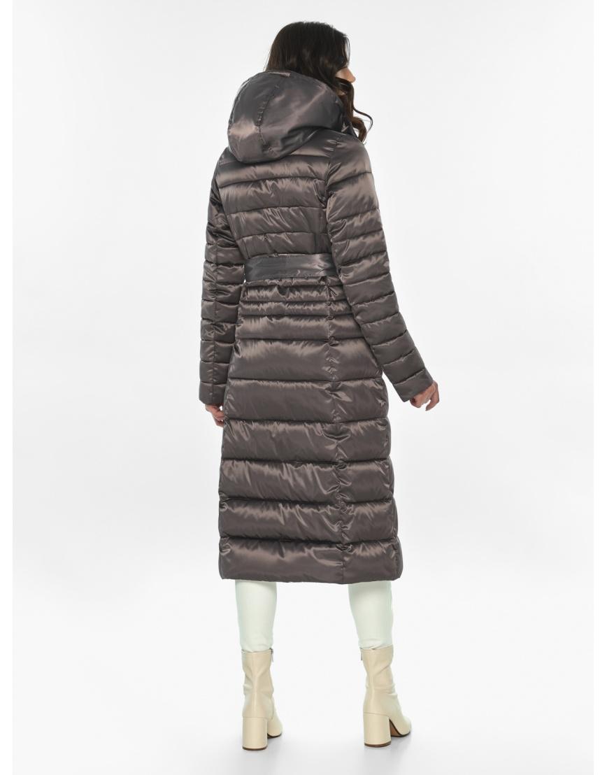 Длинная капучиновая куртка женская Vivacana 8140/21 фото 4