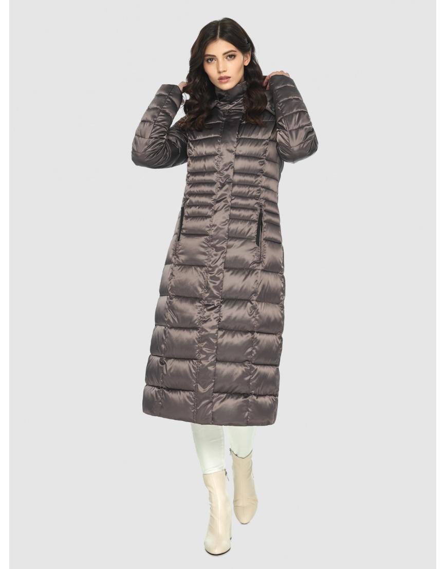 Длинная капучиновая куртка женская Vivacana 8140/21 фото 2