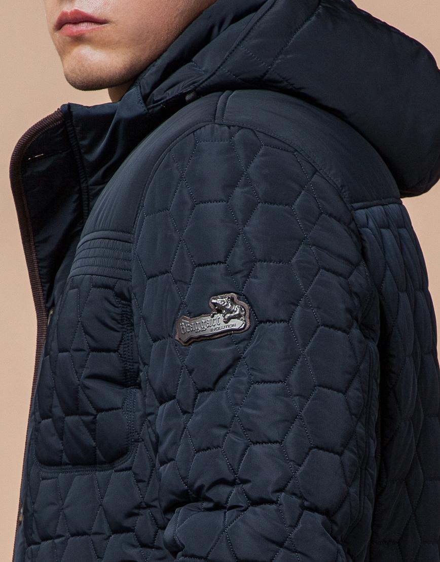 Удобная светло-синяя куртка модель 3570 фото 6