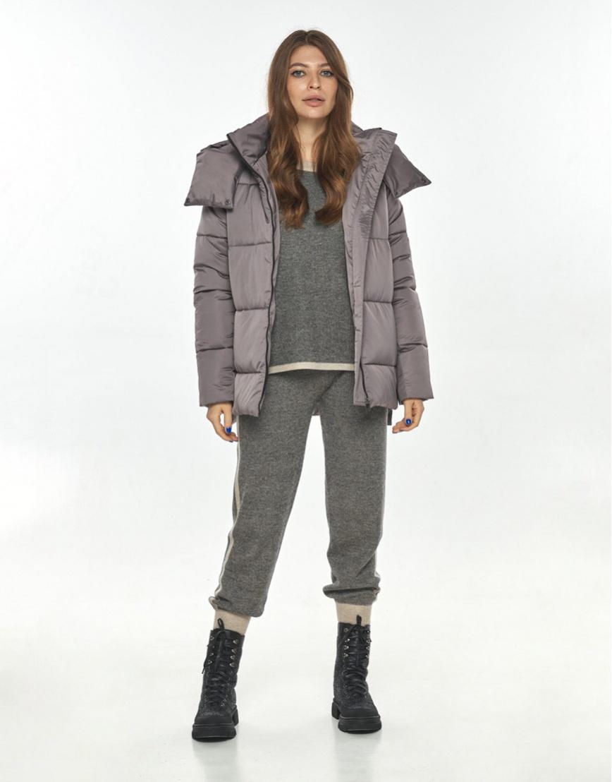 Практичная женская куртка Ajento цвет пудра 22430 фото 2