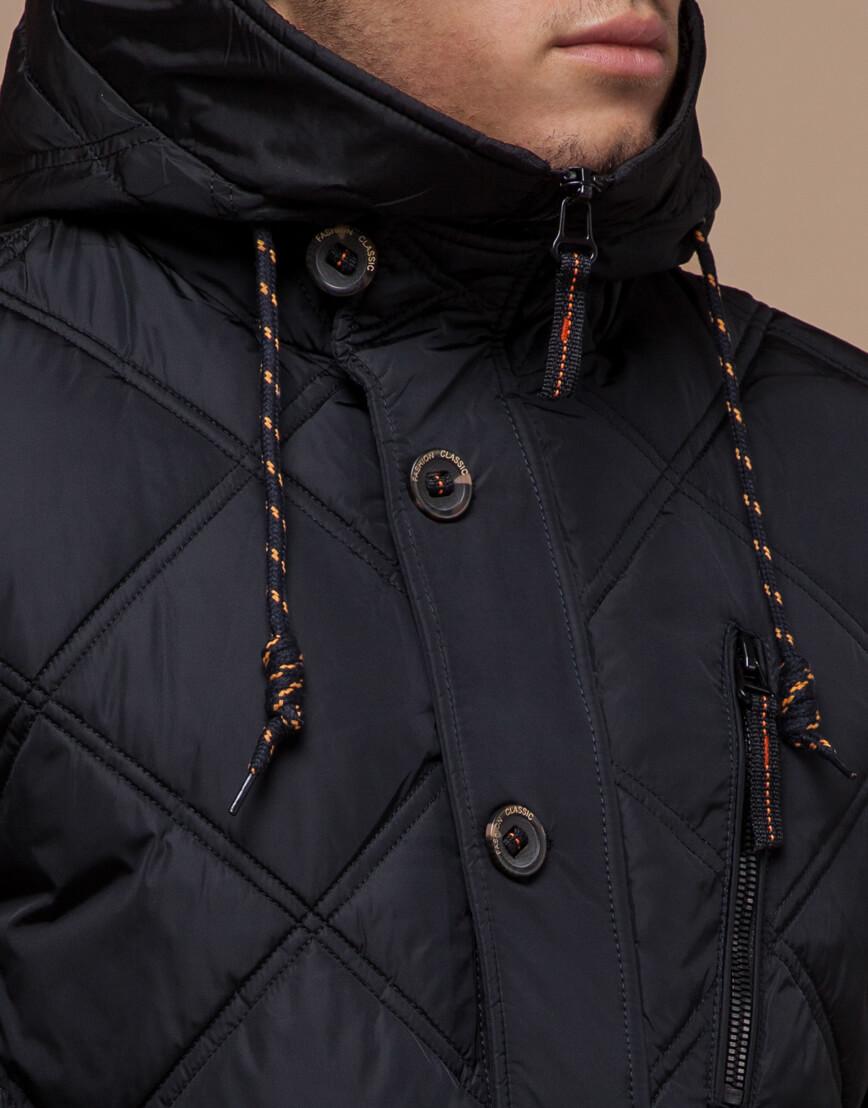 Мужская куртка черного цвета модель 12481 фото 4