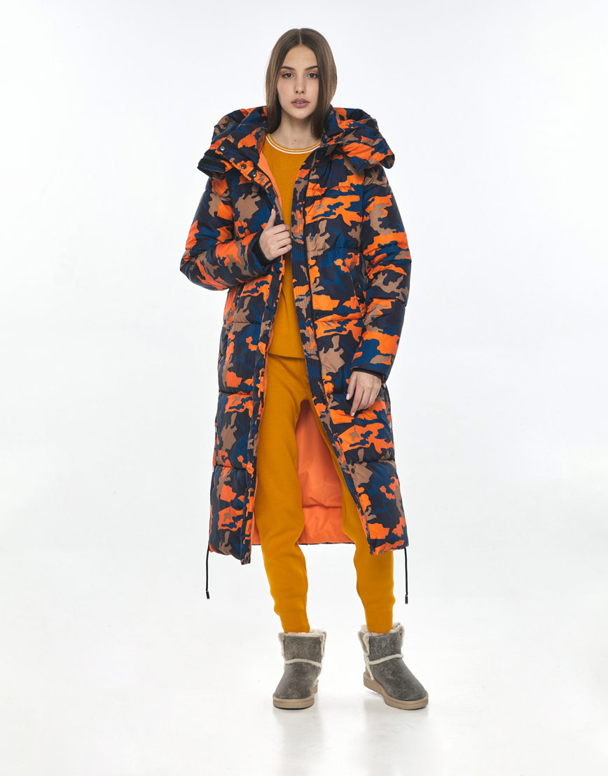 Трендовая куртка с рисунком женская Vivacana зимняя 7654/21 фото 1