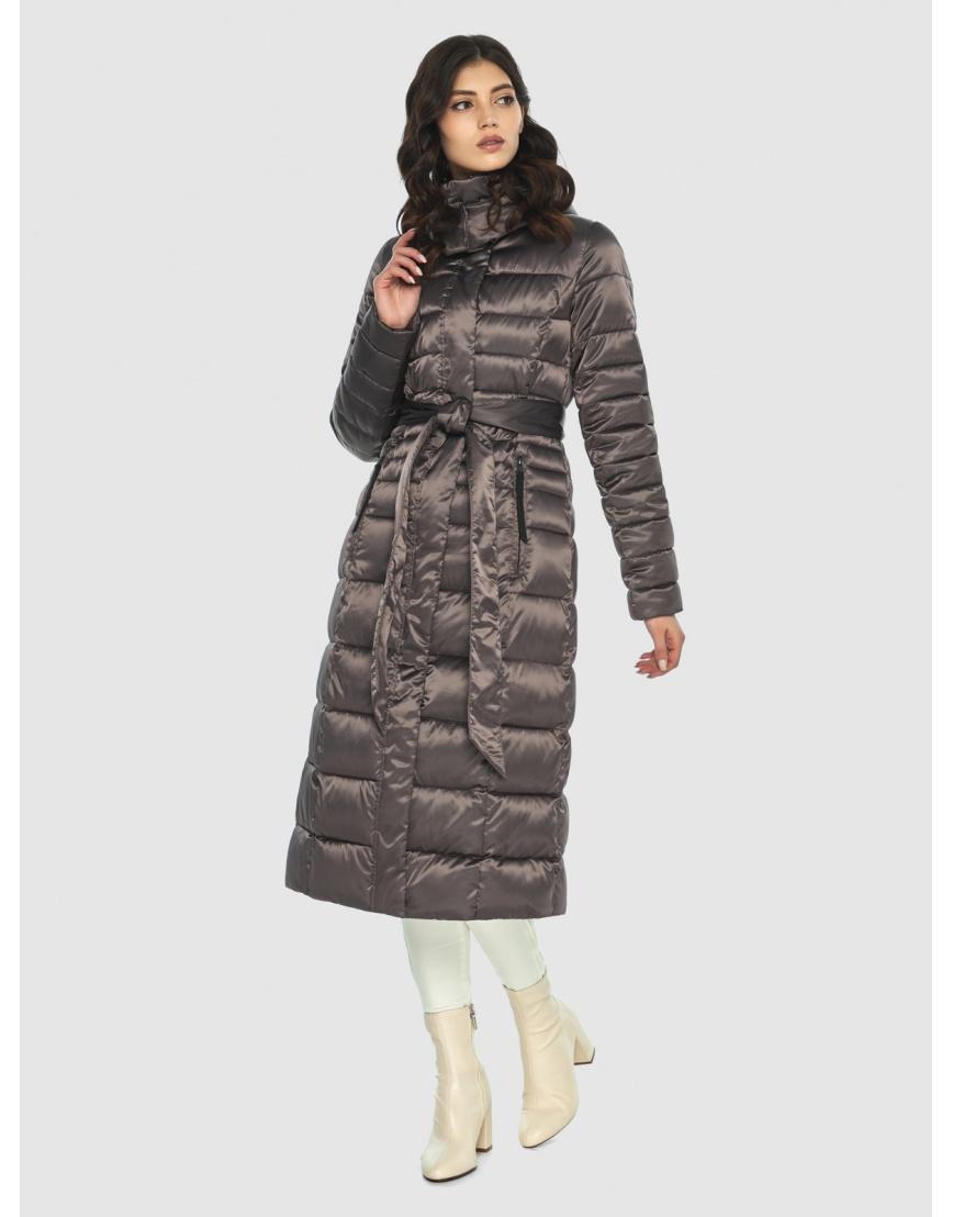 Длинная капучиновая куртка женская Vivacana 8140/21 фото 1