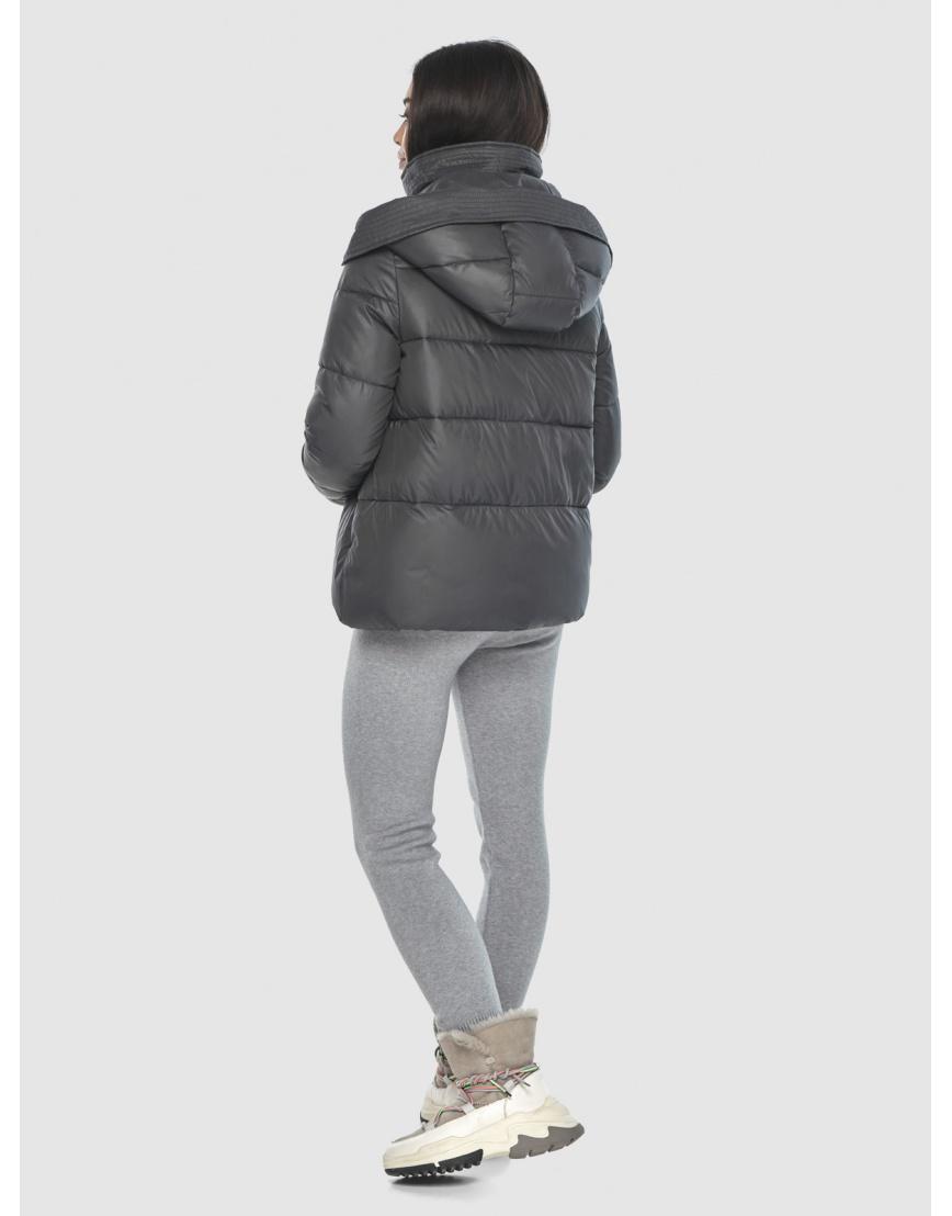 Серая люксовая женская куртка Moc M6981 фото 4