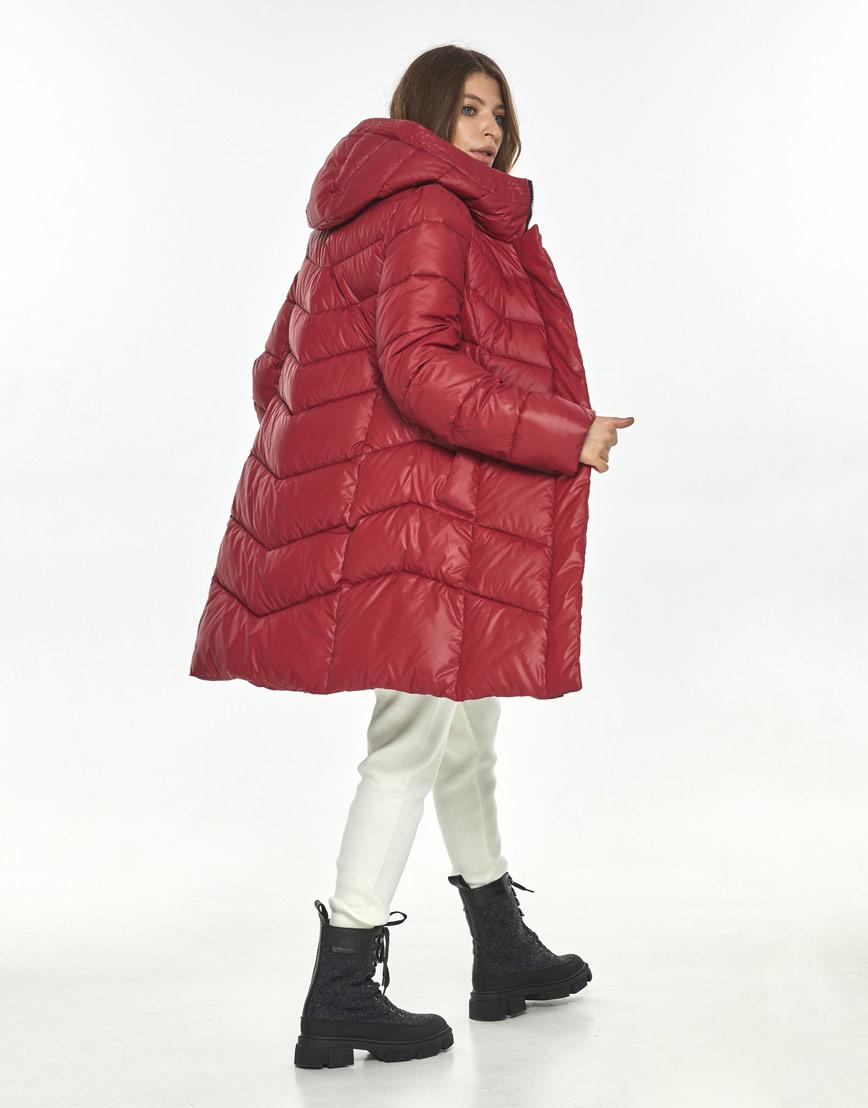 Куртка комфортная красная женская большого размера Ajento 22857 фото 3