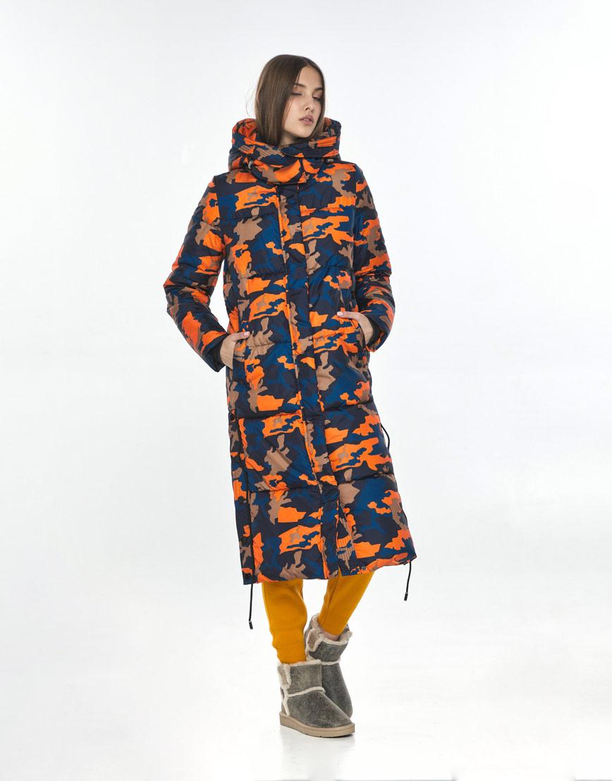 Трендовая куртка с рисунком женская Vivacana зимняя 7654/21 фото 2