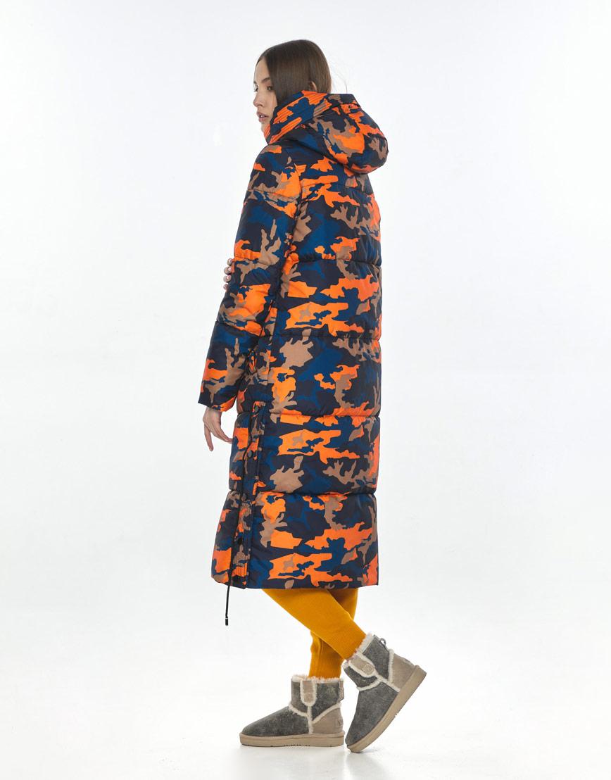 Трендовая куртка с рисунком женская Vivacana зимняя 7654/21 фото 3