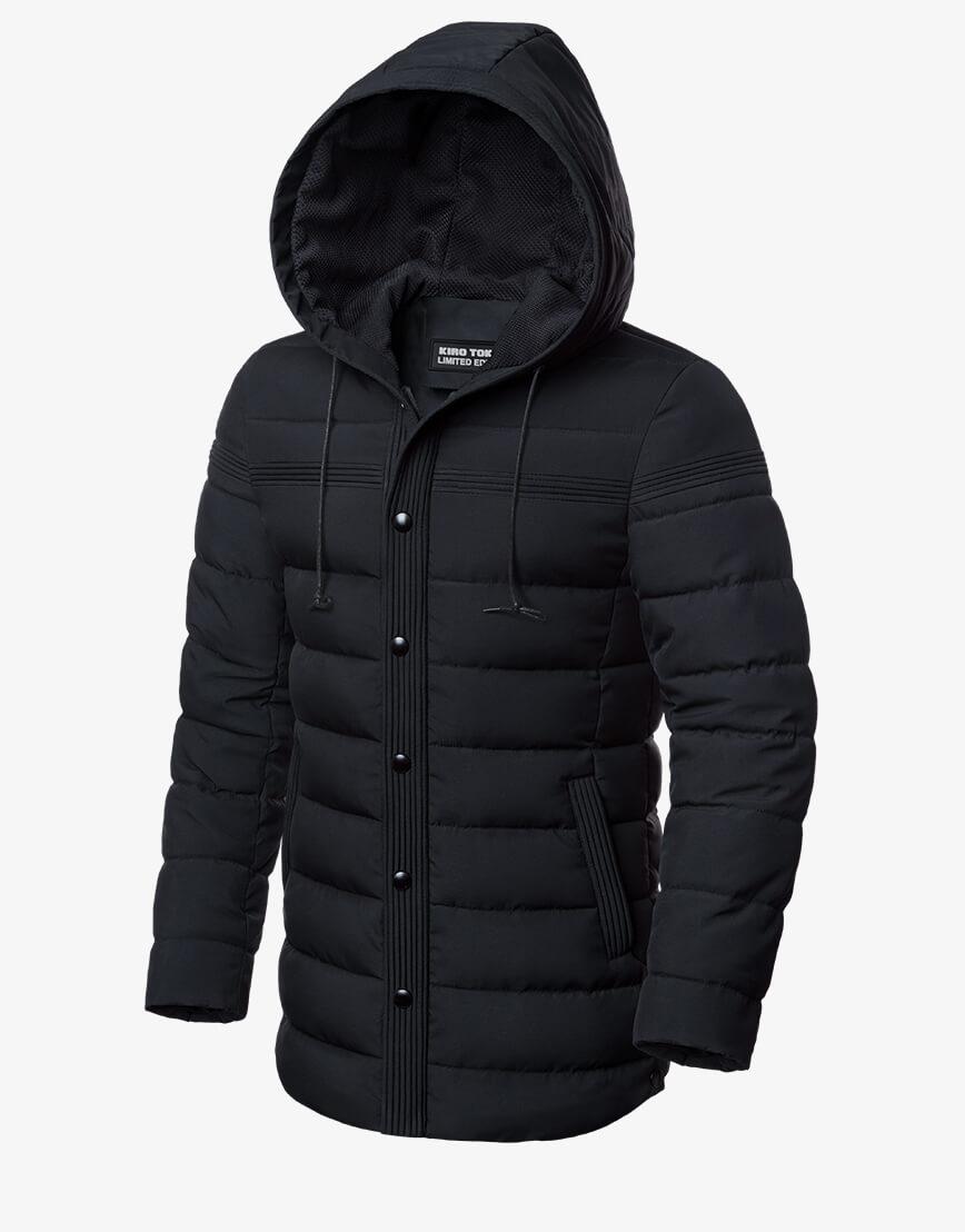 Мужская графитовая куртка зимняя модель 8806 фото 1