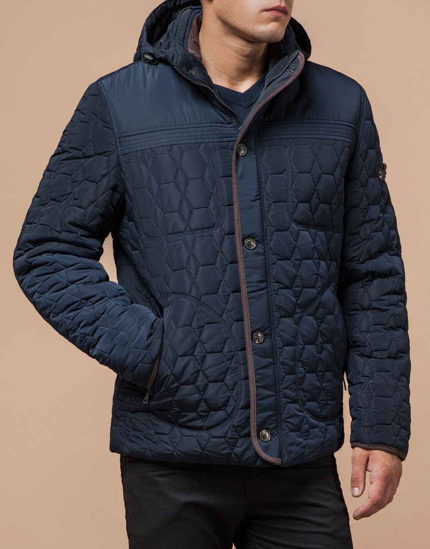 Удобная светло-синяя куртка модель 3570 фото 2