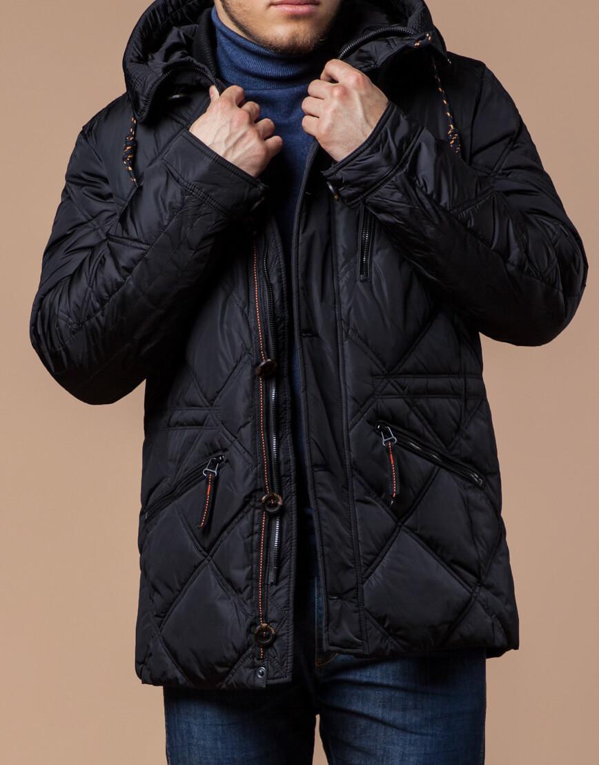 Мужская куртка черного цвета модель 12481 фото 2