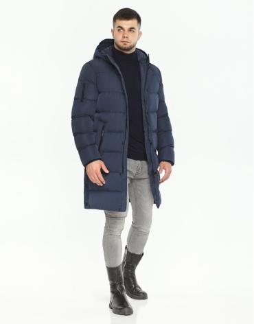 Синяя куртка фирменная мужская модель 52045 фото 1