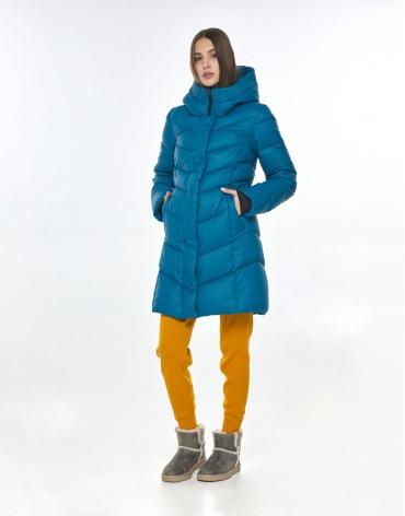 Брендовая аквамариновая куртка Vivacana женская на осень 7821/21 фото 1