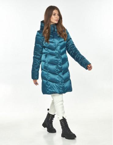 Аквамариновая куртка большого размера женская Ajento практичная 22857 фото 1