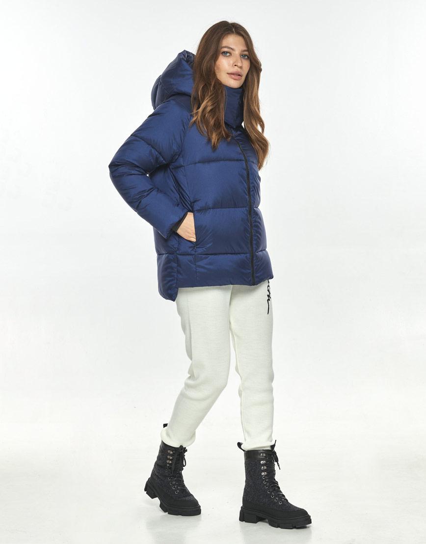 Синяя трендовая куртка женская Ajento 22430 фото 1
