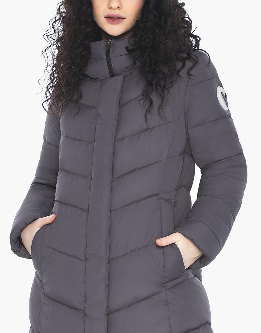 Куртка пуховик Youth женский графитовый молодежный фирменный модель 21025 фото 7