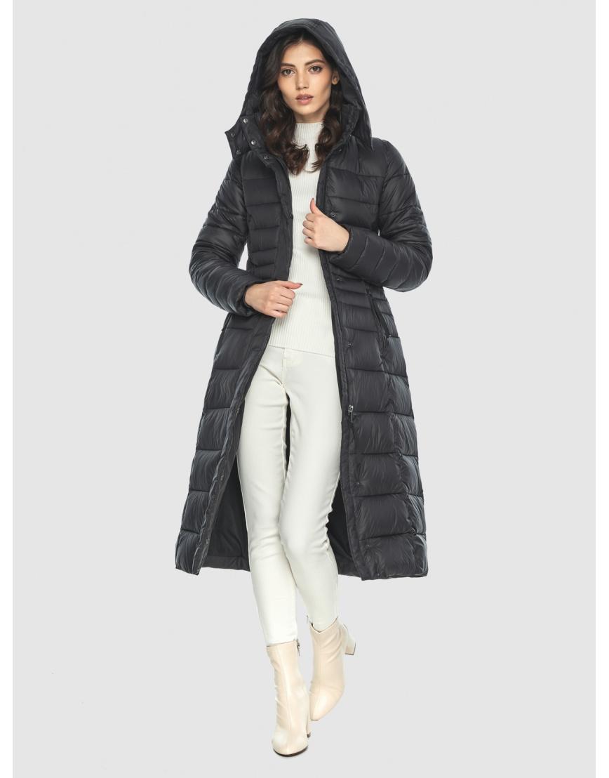 Куртка с капюшоном чёрная женская Vivacana 8140/21 фото 6