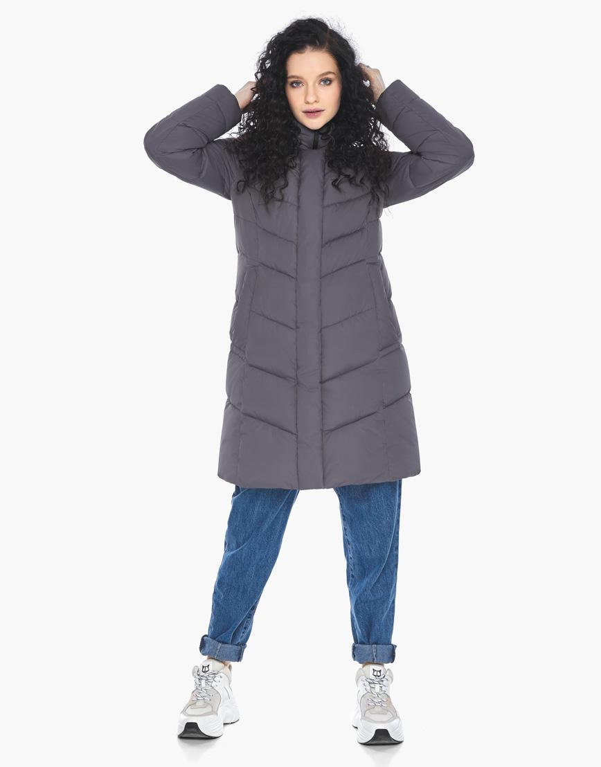 Куртка пуховик Youth женский графитовый молодежный фирменный модель 21025 фото 5