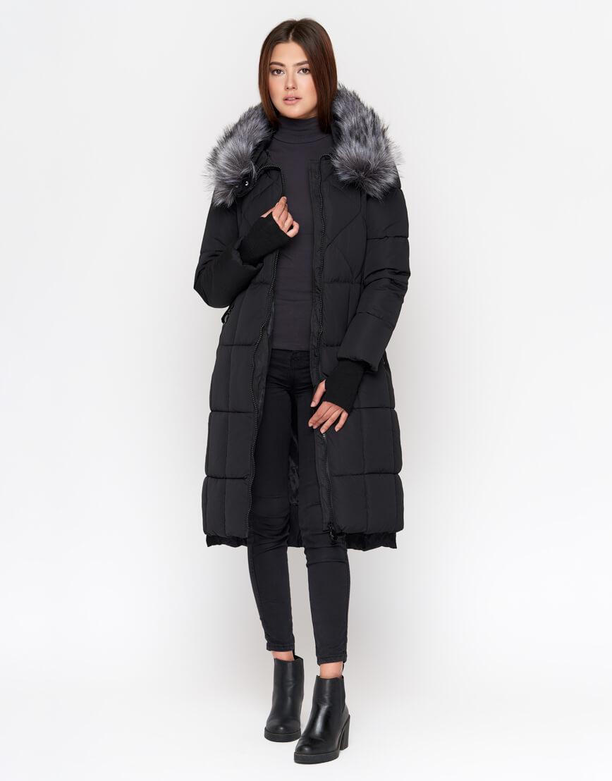 Черная куртка женская брендовая модель 18013